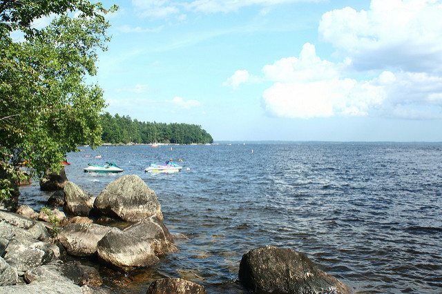 Sebago, one of the many lakes in southern Maine.