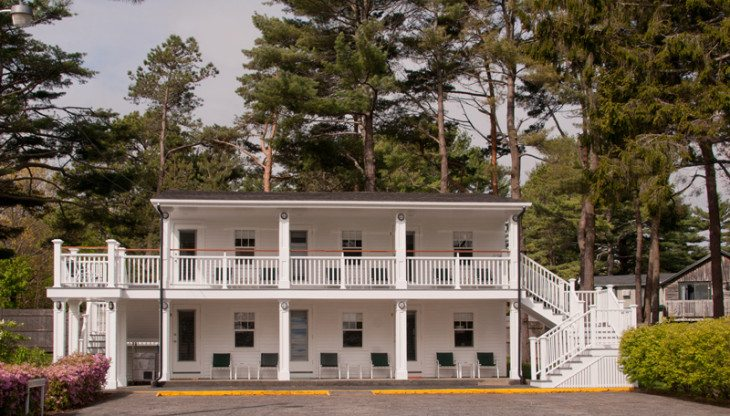 Exterior of The Dunes guestrooms
